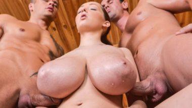 Lucie Wilde - Hot Sauna Threesome