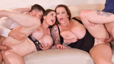 Laura Orsolya, Cathy Heaven - Busty Group Sex Banger